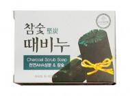 Отшелушивающее мыло с экстрактами древесного угля DONGBANG Charcoal stain remover soap 100 г: фото