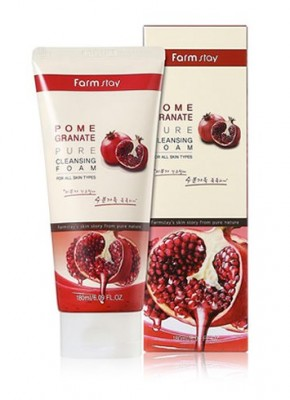 Пенка очищающая с экстрактом граната FARMSTAY Pomegranate pure cleansing foam 180 мл: фото