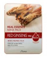 Тканевая маска с красным женьшенем JUNO Real essence mask pack (red ginseng) 25 мл: фото