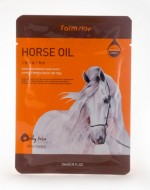 Маска с лошадиным маслом FARMSTAY Horse oil visible difference mask sheet 23мл: фото