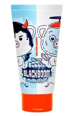 Маска кислородная для очищения пор ELIZAVECCA Hell Pore Bubble Blackboom Pore Pack: фото