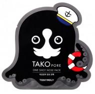 Патч для носа TONY MOLY Tako pore one shot nose pack 1 шт.: фото
