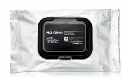 Очищающие салфетки TONY MOLY Pro clean smoky cleansing tissue 15 шт: фото