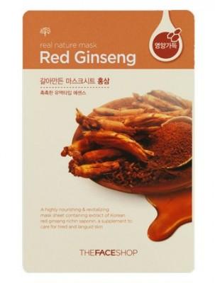 Маска с экстрактом красного женьшеня THE FACE SHOP REAL NATURE MASK SHEET RED GINSENG 20г: фото