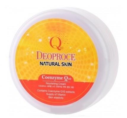 Крем для лица и тела с коэнзимом Q10 DEOPROCE Natural skin coenzyme Q10 nourishing cream 100г: фото