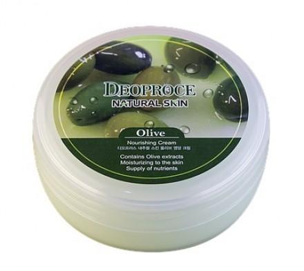 Крем для лица и тела с экстрактом оливы DEOPROCE Natural skin olive nourishing cream 100г: фото