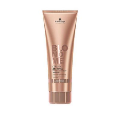 Бондинг-шампунь кератиновое восстановление для волос блонд Schwarzkopf Professional, Blondme 250 мл: фото