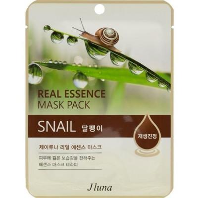 Тканевая маска с улиткой Juno Real Essence Mask Pack Snail 25мл: фото