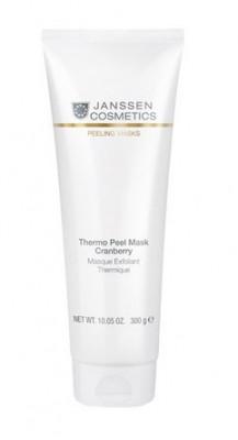 Термомаска-эксфолиант кремовая Клюква Janssen Cosmetics Thermo peel mask Cranberry 300г: фото