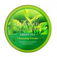 Крем для лица очищающий с экстрактом зеленого чая PREMIUM DEOPROCE CLEAN & DEEP GREEN TEA CLEANSING CREAM 300г: фото