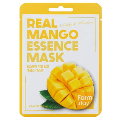 Тканевая маска для лица с экстрактом манго FARMSTAY REAL MANGO ESSENCE MASK 23 мл: фото