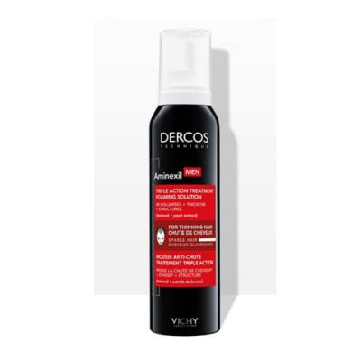 Средство против выпадения волос для мужчин в формате пены Vichy Dercos Aminexil 150мл: фото