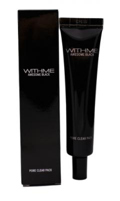 Маска для лица ОЧИЩАЮЩАЯ EVAS WITHME Awesome Black Pore Clear Pack 30г: фото
