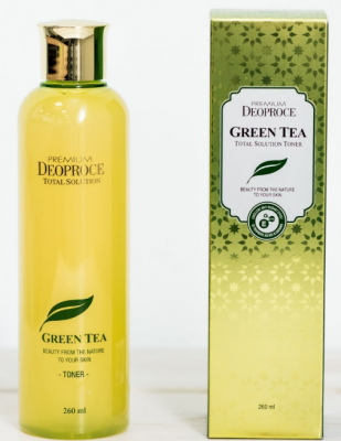 Тонер на основе зеленого чая DEOPROCE PREMIUM GREENTEA TOTAL SOLUTION TONER 260мл: фото