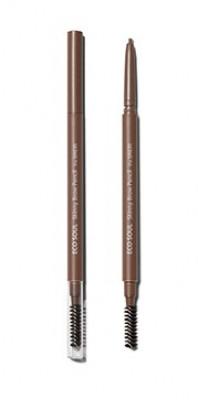 Карандаш для бровей Eco Soul Skinny Brow Pencil 01 Natural Brown: фото