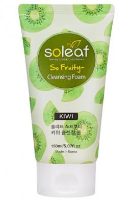 Пенка очищающая для лица с киви Soleaf So Fruity Kiwi Cleansing Foam 150мл: фото