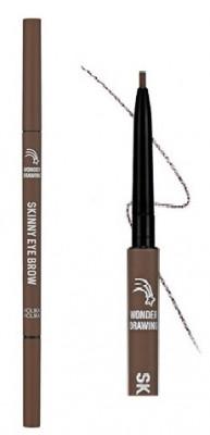 Карандаш для бровей Holika Holika Wonder Drawing Skinny Eye Brow 06 шоколадно-коричневый 0,5 г: фото