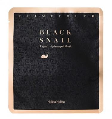Маска гидрогелевая с экстрактом муцина черной улитки Holika Holika Prime Youth Black Snail Repair Hydrogel Mask 25 г: фото