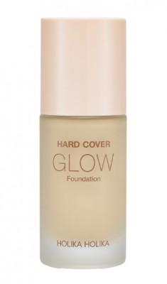 Тональная основа увлажняющая Holika Holika Hard Cover Glow Foundation 04 Honey светло-бежевый 30 мл: фото