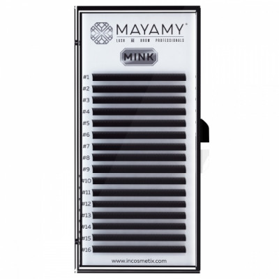 Ресницы MAYAMY MINK 16 линий D 0,10 7 мм: фото