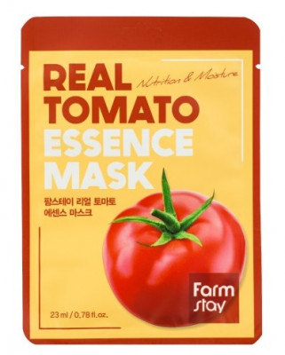 Тканевая маска для лица с экстрактом томата FarmStay REAL TOMATO ESSENCE MASK 23мл: фото