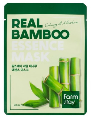 Тканевая маска для лица с экстрактом бамбука FarmStay REAL BAMBOO ESSENCE MASK 23мл: фото
