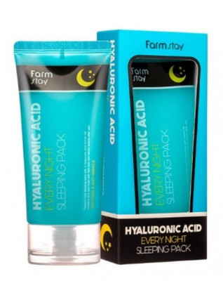 Маска ночная с гиарулоновой кислотой FarmStay Hyaluronic Acid Every Night Sleeping Pack 120мл: фото