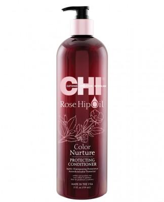 Кондиционер Поддержание Цвета с Маслом Дикой Розы CHI Rose Hip Oil Color Nurture Protecting Conditioner 739 мл: фото