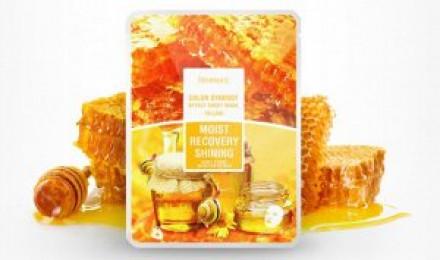 Маска с фильтратом улитки и мёдом DEOPROCE Color synergy effect sheet mask yellow 20г*25шт: фото