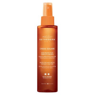 Масло для тела и волос при умеренном солнце Institut Esthederm Sun Care Protective 150мл: фото