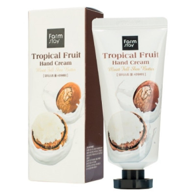 Крем для рук с маслом ши FarmStay Tropical Fruit Hand Cream Moist Full Shea Butter 50 мл: фото