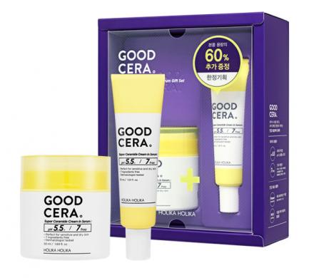 Набор миниатюр крема-сыворотки Good Cera Super Ceramide Cream In Serum 50мл+30мл: фото
